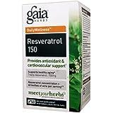 Gaia Herbs Resveratrol 150 - 50 Vegetarian Liquid Phyto-Caps