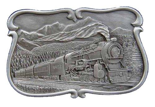 Steam Train Scene Novelty Belt Buckle