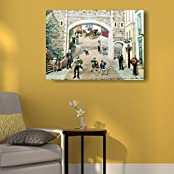 House Things Cityscape Canvas Print 29 X 20.75, Inches Wall Décor Art