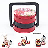 1:12 Lunch Box 3 Layer Red Japanese F…