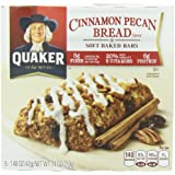 Quaker Soft Baked Bar, Cinnamon Pecan Bread, 7.4-Ounce (Pack of 6)