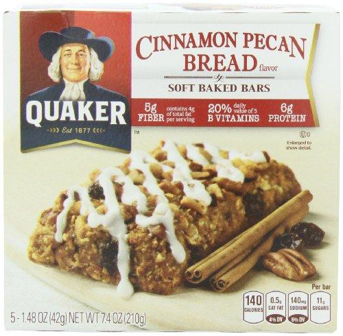 Quaker Soft Baked Bar, Cinnamon Pecan Bread, 7.4-Ounce (Pack of 6)