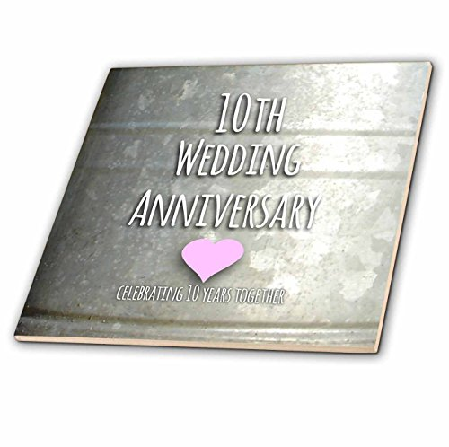 3dRose Ct 154441 1 10Th Wedding Anniversary Gift Tin Celebrating 10 Years Together Tenth Anniversari