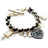 BONAMART ® Amazing Wrap Bracelet charm with Bow Love Heart And Shiny Star Flower For Women New Hot Item Jewelry Fashion
