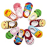 Happy Cherry - (Pack de 10 pares) Calcetines Zapatos Antideslizantes para beb�s ni�os ni�as 1-3 a�os - 14cm
