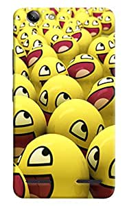 Omnam Yellow Eggs With Smiley Emojis Printed Designer Back Cover Case For Lenovo Vibe K5 Plus