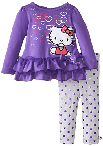 Hello Kitty Baby-Girls Infant Electric Purple 2 Piece Legging Set, Purple, 12 Months front-1020510