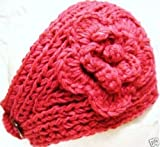 Handmade Knit Crochet Headband - Pink Color