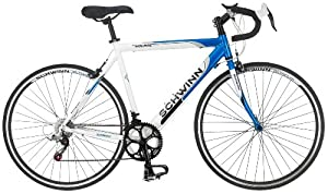 Schwinn Men&#39;s Volare 1300 700c Drop Bar Road Bicycle Blue/white 18-inch
