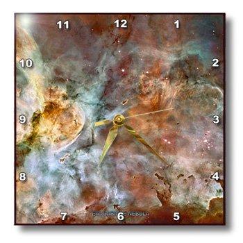 Dpp_76816_3 Sandy Mertens Space Gallery - Galaxy And Nebula - Eta Carinae Nebula By Nasa Hubble Telescope - Wall Clocks - 15X15 Wall Clock