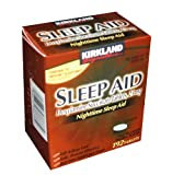 51r5uydKMcL. SL160  Kirkland Signature Nighttime Sleep Aid (Doxylamine Succinate 25 mg), 96 Count Tablets (Pack of 2)
