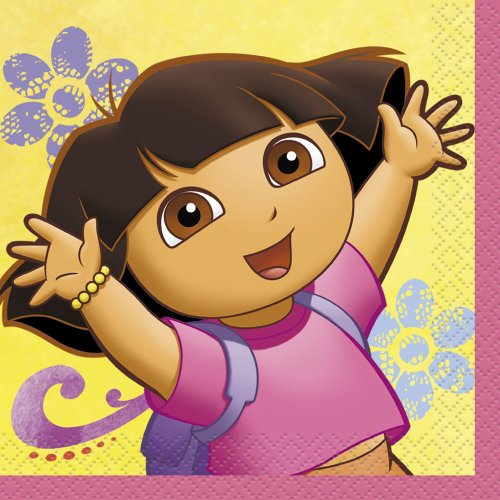 Dora the Explorer Beverage Napkins, 16ct