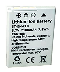 Replacement Battery Nikon ENEL-8 for Coolpix S2, S6, S8, S9, S7, S50