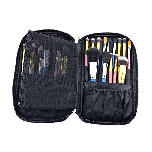 Hotrose 2015 Cosmetic Case Timed Promotion Multifonctionnel de pinceau de maquillage Zipper de haute qualité pour Voyage & Home Use, noir