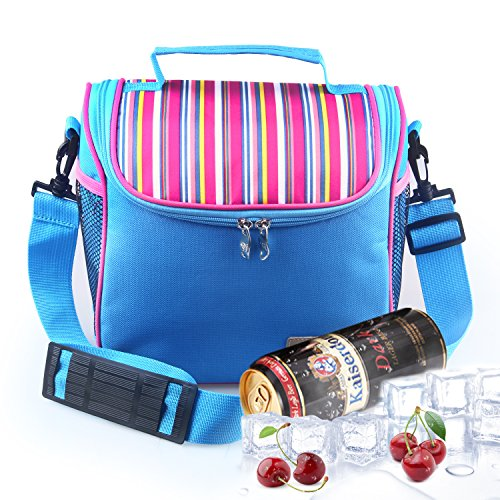 Tagvo Insulated Cooler Bag with Removable Inner Liner Box, Freezable Cooler Lunch Tote with Detachable Shoulder Strap for Kids Adults Picnic Fashionable Insulated Bag Breastmilk Baby 8