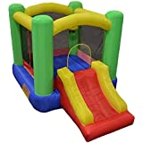 "My Bouncer Little Slide Castle Bounce 118"" L x 78"" W x 78"" H w/ 2 Built-in Hoops - Phthalate Free Puncture Resist Nylon Material Ball Pit Popper - 4 Models & 6 Sizes Available"