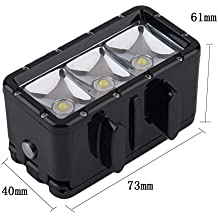 Alcoa Prime Newest 30m Underwater Waterproof Diving Spot Light LED Mount For GoPro Hero 4 3+ 3