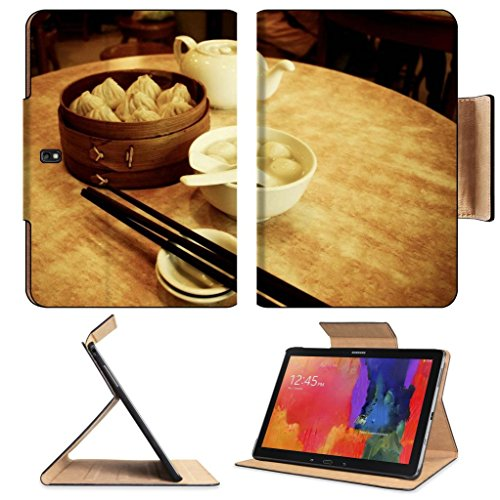 Dessert Rice Ball Steam Buns Teapot Samsung Note Pro 12.2 Flip Case Stand Smart Magnetic Cover Open Ports Customized Made To Order Support Ready Premium Deluxe Pu Leather Luxlady Professional Graphic Background Covers Designed Model Folio Sleeve Hd Templa front-593845