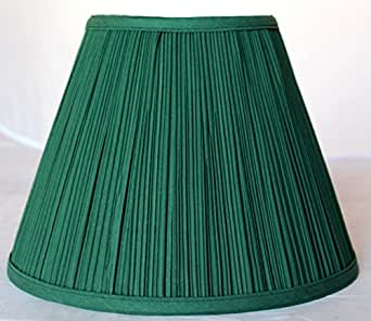 16 Quot W Green Pleated Lamp Shade Mushroom Pleat Fabric