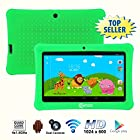 Contixo 7 Inch Quad Core Android 4.4 Kids Tablet, HD Display 1024x600, 1GB RAM, 8GB Storage, Dual Cameras, Bluetooth, Wi-Fi, Kids Place App & Google Play Store Pre-installed, 2015 July Edition, Kid-Proof Case (Green)