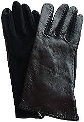 Lauren Ralph Lauren Touch Screen Leather Gloves Dark Brown Medium