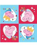 Peppa Pig Tovaglioli Di Carta, 33X33 cm, 16 pezzi
