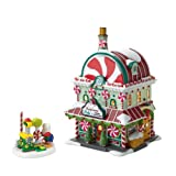 "Department 56 North Pole Annual ""Celebrate The Holiday"" Limited to 2010 Peppermint Pete Lit House and Figurine Set"