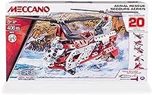 Comprar Meccano Helicopter 20 Model Set - juegos de construcción (Vehicle, Negro, Rojo, Plata, Color blanco, Metal, De plástico, Caja)