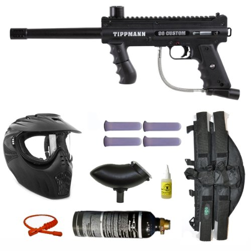 Tippmann 98 Custom PS ACT Paintball Marker Gun 3Skull 4+1 X-Ray Mega Set