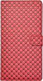 PLATA Xperia Z Ultra SOL24 用 市松 模様 チェック ブロック スタンド ケース ポーチ 格子柄 手帳型 カバー 【 レッド あか 赤 red 】 ASOL24-62RD