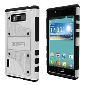 Amazon.com: LG Optimus Showtime L86C L86G White Black Tough Armor Skin