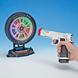 "Laser Target Shooting Set Game-Laser Pistol and Target Set - Target Measures 6-1/2"" in diameter, Gun Measures 8"" long"