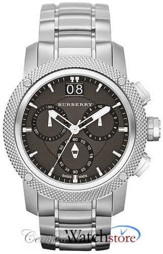 Burberry BU9800 Watch Utilitarian Mens - Black Dial Stainless Steel Case Quartz Movement