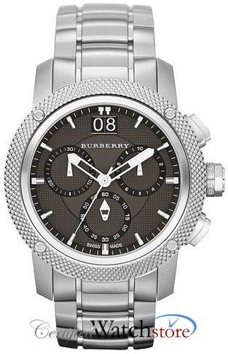 Burberry BU9800 Watch Utilitarian Mens - Black Dial Stainless Steel Case Quartz Movement