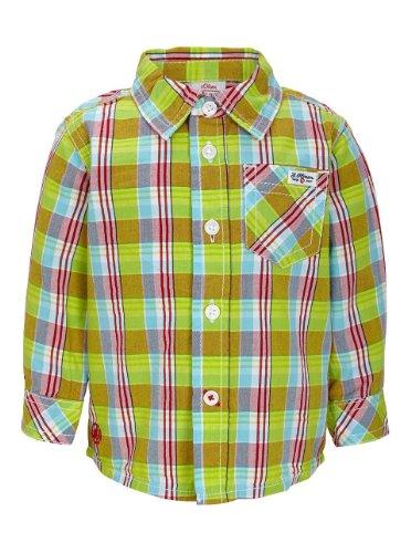 s.Oliver Baby - Jungen (0-24 Monate) Hemd 65.403.21.5579, Kariert, Gr. 86, Grün (green check)