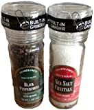Trader Joe's Salt & Pepper Combo Pack w/ Grinders - Black Peppercorns and Sea Salt Crystals