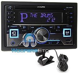 See Alpine CDE-W265BT Double DIN Bluetooth In-Dash CD/AM/FM Receiver w/ App Direct Mode Details