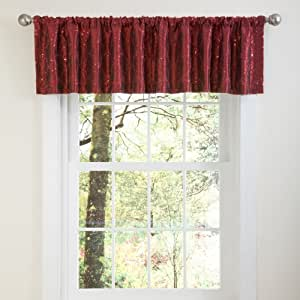 Buy lush decor angelica sequins valance 18 inch by 84 inch red online at low prices in india - Angelica kitchen delivery ...