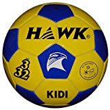 HAWK Unisex Rubber Football 3 Blue & Yellow
