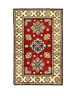 L'Eden del Tappeto Alfombra Uzebekistan Super Rojo / Beige 155  x  99 cm