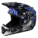 Nitro Extreme MX Off-Road Helmet (Black/Blue, XX-Large)
