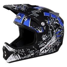 Nitro Extreme MX Off-Road Helmet (Black/Blue, XX-Large)