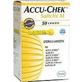 ACCU-CHEK SOFTCLIX XL STERILE LANCETS 21G/08MM - 50