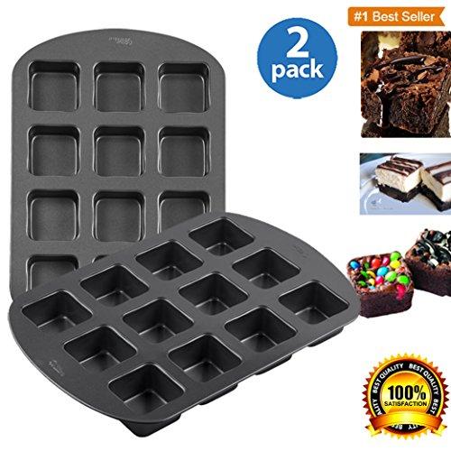 Wilton 4 Nonstick Brownie Pan, 12-Cavity - 2 Pc