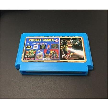 8 bit Retro Game Cartridge 150 in 1 with Game Rockman NINJA TURTLES Contra Kirby's Adventure