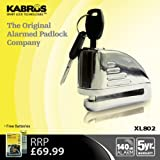 Kabrus Alarmed Disc Padlock / Motorbike Disc Alarm Lock / Secure Motorcycle Motor bikes Scooter Bicycle 140 dB