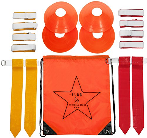 Flag-Football-Deluxe-Gear-Set-Belts-Flags-Cones-Carry-Bag-Bonus-Flag-Football-Playbook-eBook