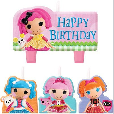 Lalaloopsy Birthday Party Molded Candle Set - 4 Pcs - 1