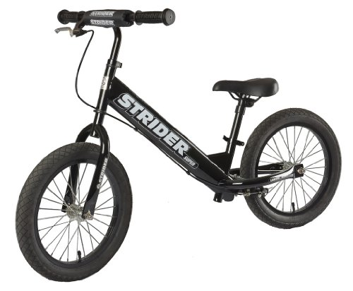 Best Kids Balance Bike for Sale - Black STRIDER SUPER 16 SS-1 Bike, No-Pedal Boys and Girls Balance Bike For Ages 6 To 10 Years Old