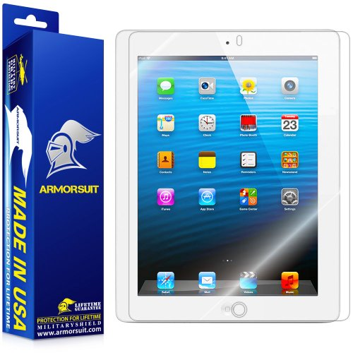 ArmorSuit MilitaryShield - Apple iPad 4 with Retina Display / iPad 3 / iPad 2 Screen Protector Shield + Lifetime Replacements